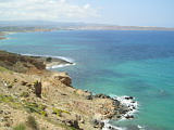View from seaside to Sitia